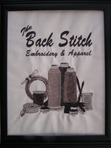 The Back Stitch Embroidery logo