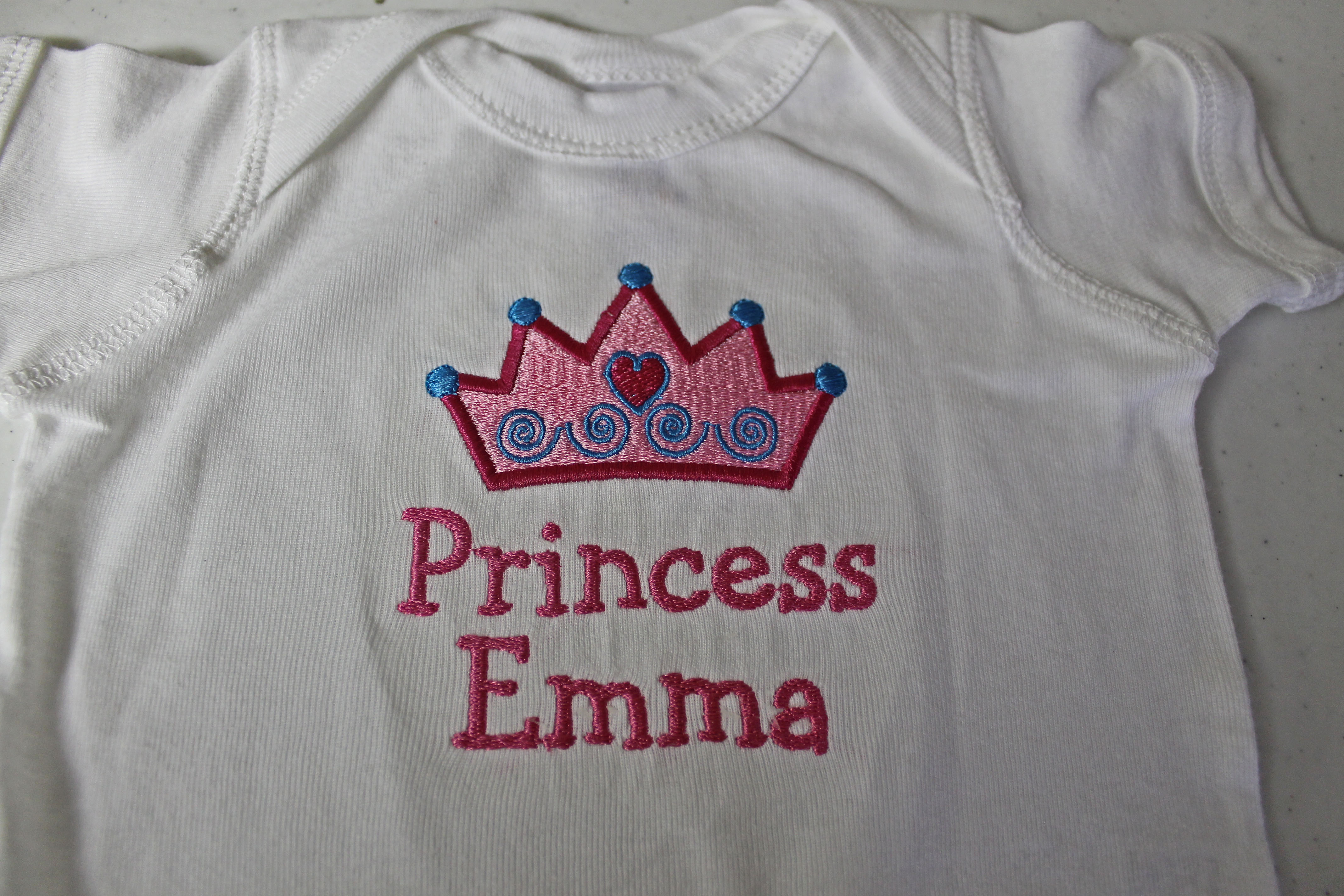 Personalized the back stitch baby showers negle Images
